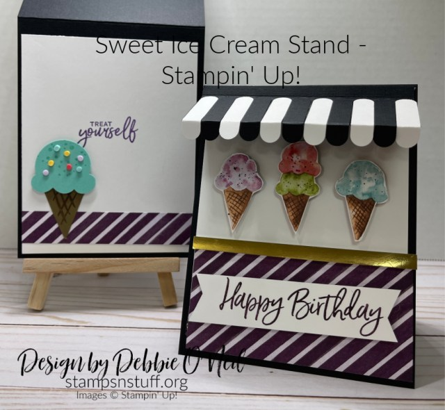 Sweet Ice Cream Stand - Watch the video below and then click on the FREE Photo/Tutorial for this card as my gift to you.