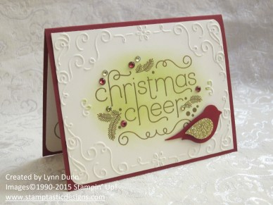 cheerful christmas card