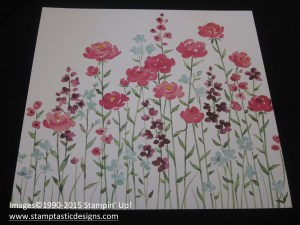 full page painted blooms