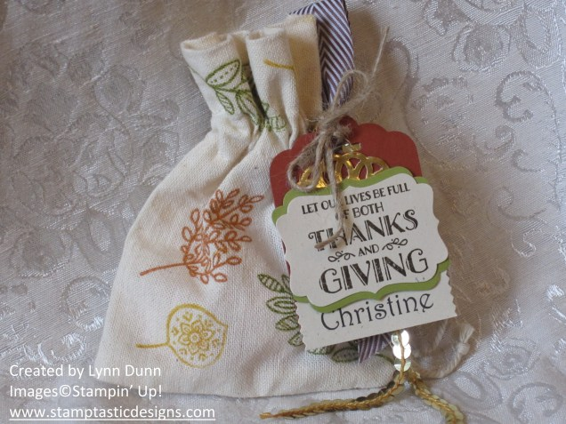 lighthearted leaves mini muslin bag