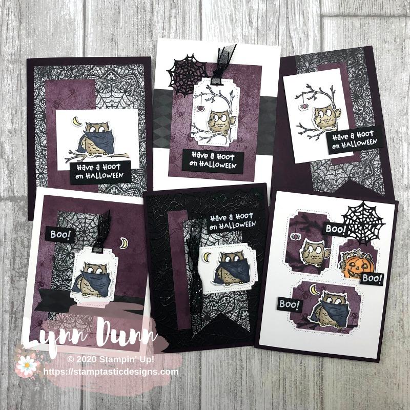 Stampin Up Halloween Card Ideas 2020 Have A Hoot   6 Easy Halloween Cards | Lynn Dunn