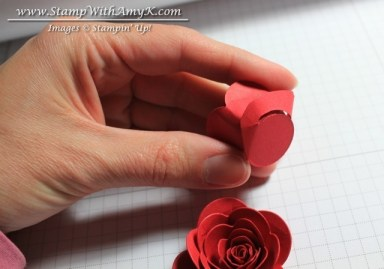 Rolled Rose Tutorial 6 - Stamp With Amy K