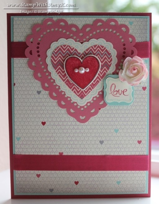 Hearts a Flutter Love Card – Stamp With Amy K