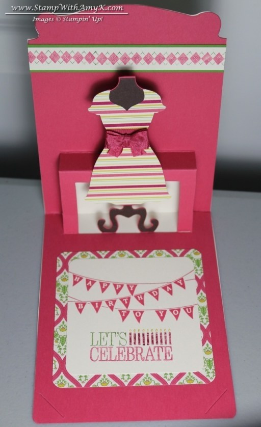 All Dressed Up Birthday Card Stamp With Amy K