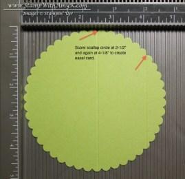 Circle Easel Card Scoring