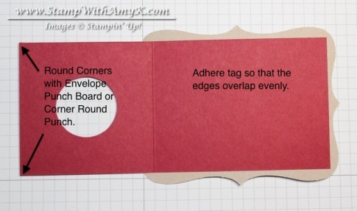 Wine Tag Tutorial 1 - Stamp With Amy K