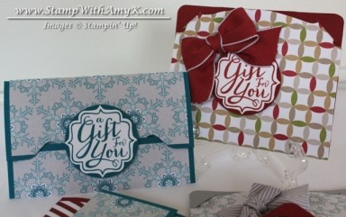 Gift Card Envelope & Pop 'n Cuts Gift Card Holder 1 - Stamp With Amy K