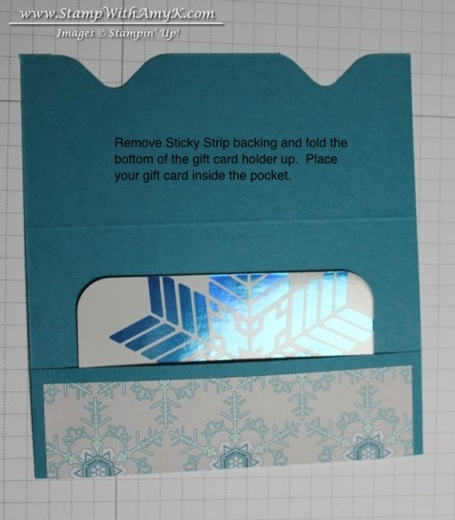 Gift Card Envelope Tutorial 3 - Stamp With Amy K
