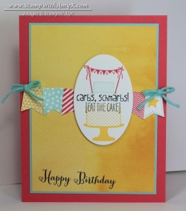 Make a Cake Banner Blast - Stamp With Amy K