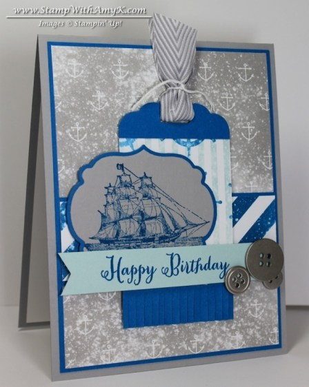 The Open Sea Masculine Birthday Card Stampin Up Stamp With Amy K