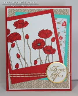 Pleasant Poppies - Stamp With Amy K