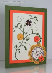 Flowering Flourishes 1 - Stamp With Amy K