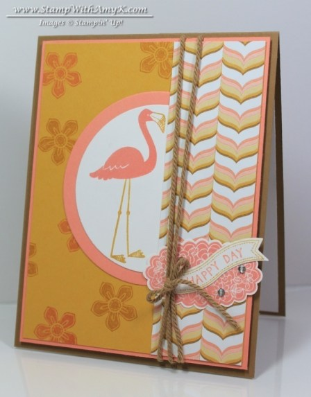 Flamingo Lingo - Stamp With Amy K