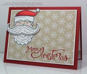 Santa Stache 2 - Stamp With Amy K