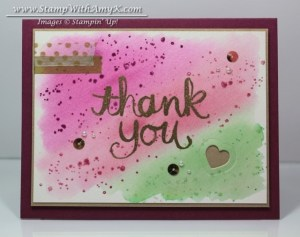 Watercolor Thank You 2 - Stamp With Amy K