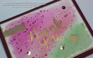 Watercolor Thank You 3 - Stamp With Amy K