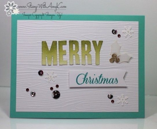 Watercolor Winter Card Kit 4 - Stamp With Amy K