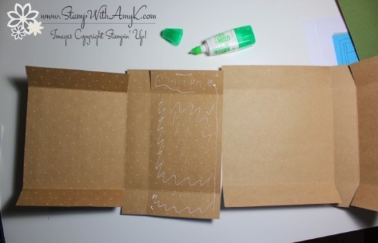 Adjustable Gift Box Tutorial 5 - Stamp With Amy K
