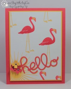 Flamingo Lingo 2 - Stamp With Amy K