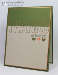 For Being You 1 - Stamp With Amy K