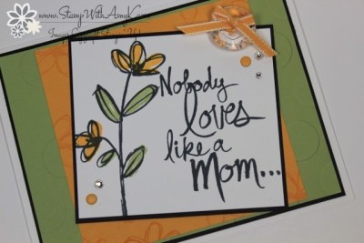 Mother's Love 3 - Stamp With Amy K
