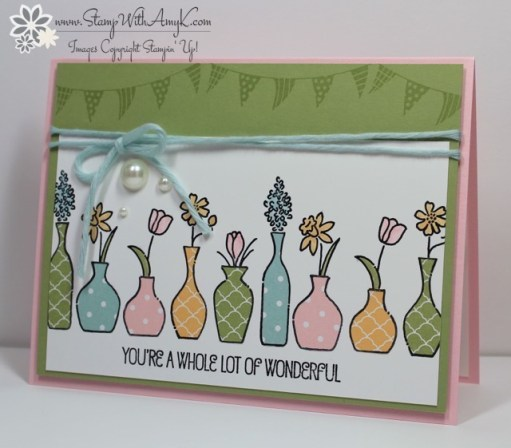 Vivid Vases - Stamp With Amy K