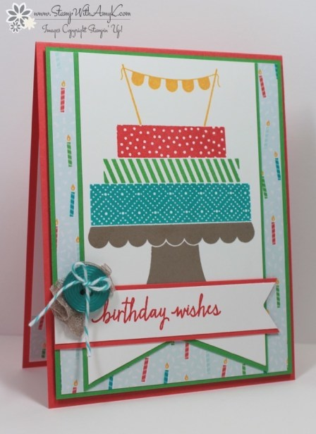 Build a Birthday - Stamp With Amy K