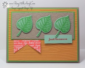 Vintage Leaves 2- Stamp With Amy K.