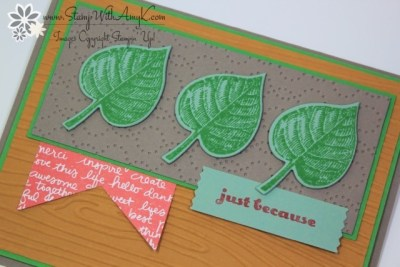 Vintage Leaves 3 - Stamp With Amy K.