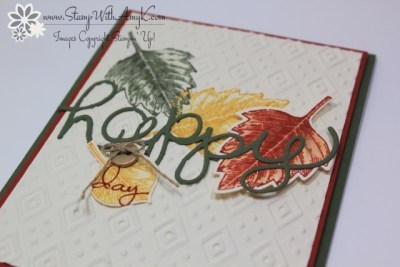 Vintage Leaves 3 - Stamp With Amy K