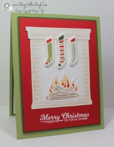 Festive Fireplace 1 - Stamp With Amy K