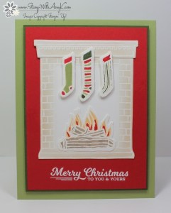 Festive Fireplace 2 - Stamp With Amy K