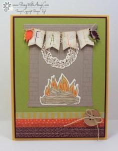 Festive Fireplace 2 - Stamp With Amy K
