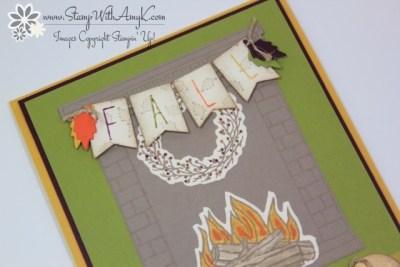 Festive Fireplace 3 - Stamp With Amy K
