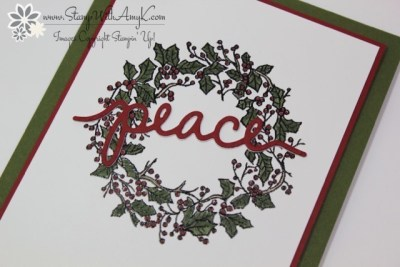 Peaceful Wreath 5 - Stamp With Amy K