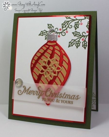 Embellished Ornaments - Stamp With Amy K