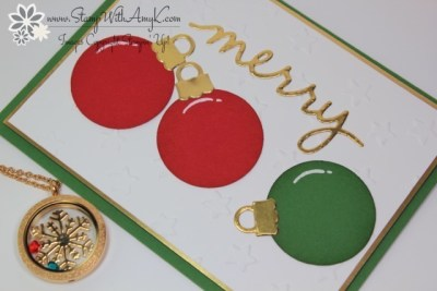 Christmas Greetings Thinlits Dies 3 - Stamp With Amy K
