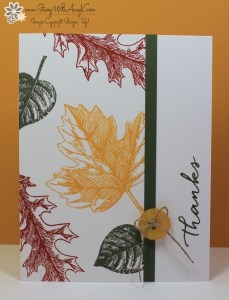 Vintage Leaves 6 - Stamp With Amy K