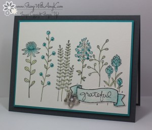 Flowering Fields 1 - Stamp With Amy K