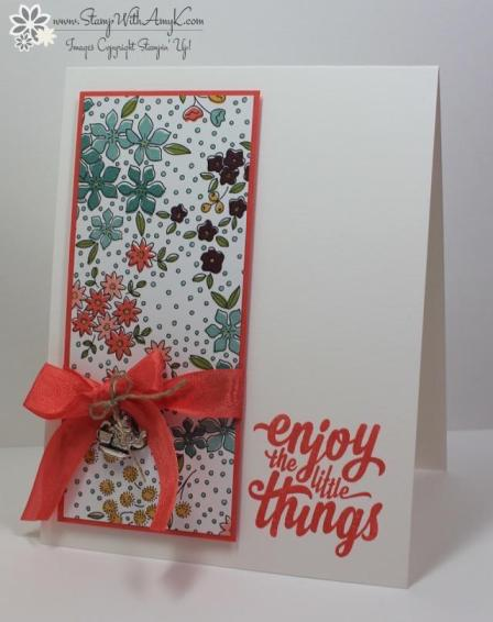 Enjoy the Little Things - Stamp With Amy K