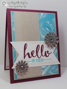 Hello 2 - Stamp With Amy K