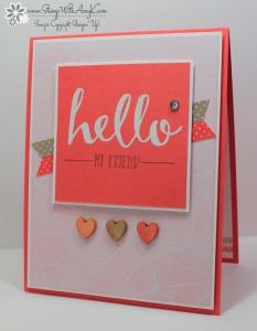 Hello 1 - Stamp With Amy K