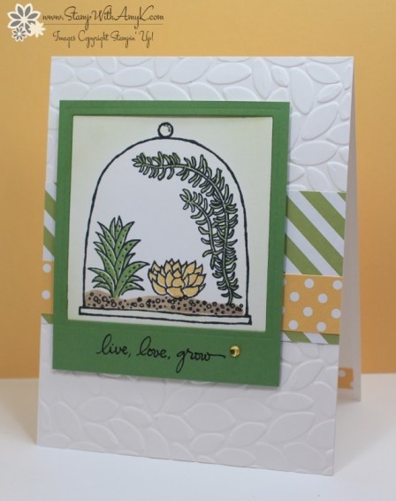 Live, Love, Grow - Stamp With Amy K