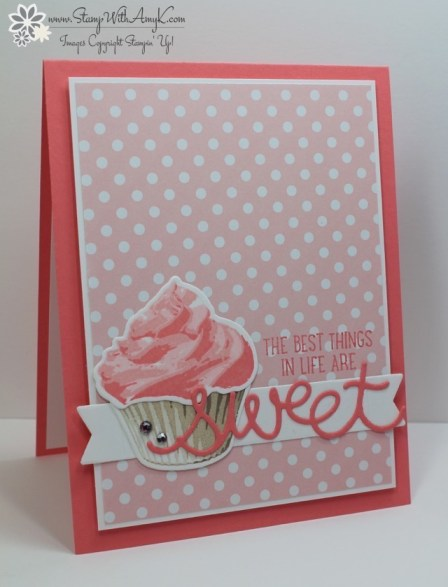 Sweet Cupcake - Stamp With Amy K