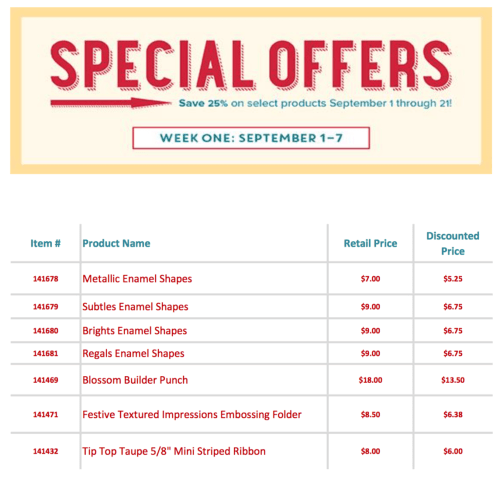 Special Offers Sept 1-7