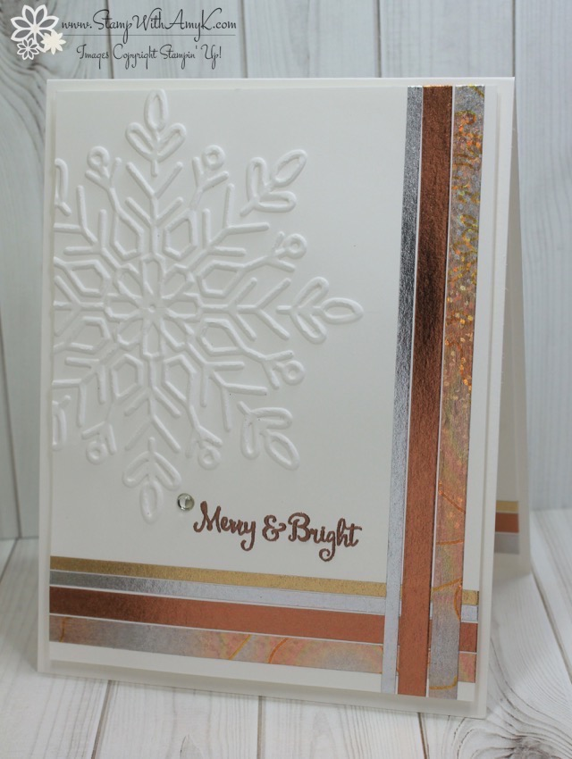 Stampin Up Season To Sparkle CAS Holiday Card Stamp
