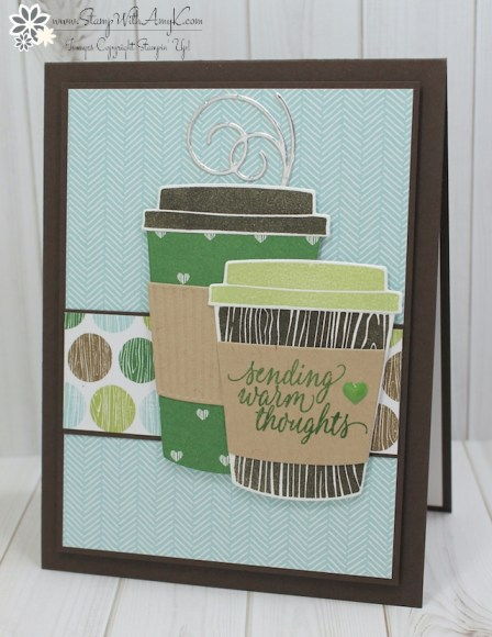 Stampin Up Coffee Cafe Birthday Card Stamp With Amy K