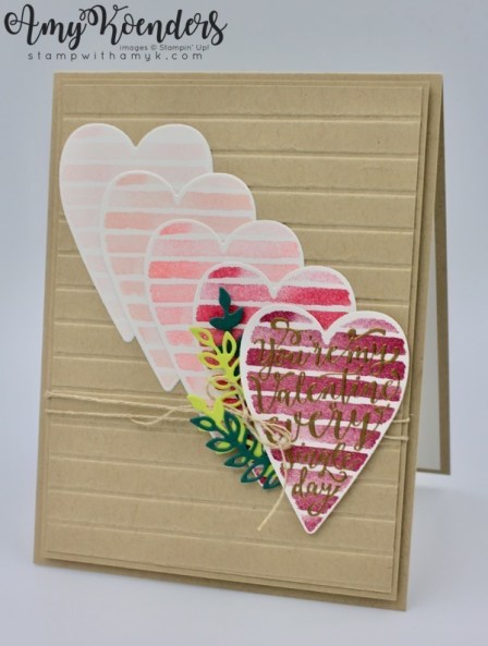 i used the stampin up heart happiness stamp set and sure do love you stamp set bundle to create a fun valentine card to share with you today stampin up