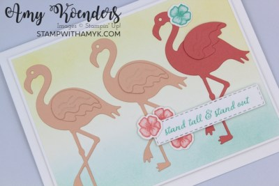 Stampin' Up! Friendly Flamingo Be Yourself Card
