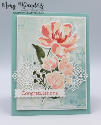 Stampin' Up! Art Gallery Congratulations Card